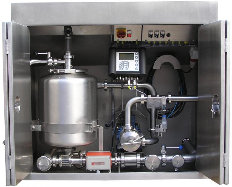 Sistema completo de medición de leche